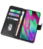 Bookstyle Wallet Cases Hoesje voor Samsung Galaxy A40 Zwart_
