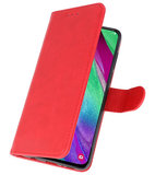 Bookstyle Wallet Cases Hoesje voor Samsung Galaxy A40 Rood_