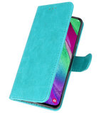 Bookstyle Wallet Cases Hoesje voor Samsung Galaxy A40 Groen_