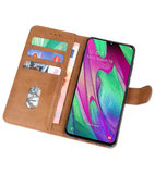 Bookstyle Wallet Cases Hoesje voor Samsung Galaxy A40 Bruin_
