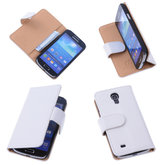 Bestcases Vintage Creme Book Cover Hoesje voor Samsung Galaxy S4 Mini i9190