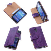 Bestcases Vintage Lila Book Cover Hoesje voor Samsung Galaxy S4 Mini i9190