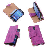 Bestcases Vintage Pink Book Cover Hoesje voor Samsung Galaxy S4 Mini i9190