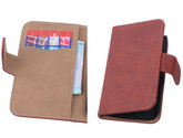 Rood Hout Hoesje voor Samsung Galaxy S4 Mini i9190 Book/Wallet Case/Cover