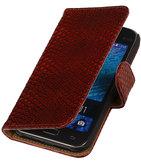 Rood Slangen / Snake Design Book Cover Hoesje voor Samsung Galaxy J1 2015