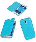 Bestcases Turquoise TPU Booktype Motief Hoesje voor Samsung Galaxy S4 mini