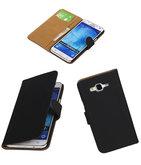 Hoesje voor Samsung Galaxy J5 2015 Effen Booktype Wallet Zwart