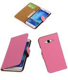 Hoesje voor Samsung Galaxy J5 2015 Effen Booktype Wallet Roze