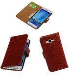 Hoesje voor Samsung Galaxy J5 2015 Snake Slang Booktype Wallet Rood