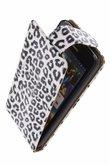 Hoesje voor Samsung Galaxy S4 Mini - Luipaard Wit Classic Flipcase
