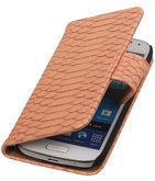 Bestcases Slang Pink Hoesje voor Samsung Galaxy S4 Mini Bookcase Cover