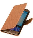 Hoesje voor Samsung Galaxy S4 Mini - Slang Roze Bookstyle Wallet
