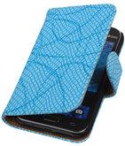 Blauw Basketbal Hoesje voor Samsung Galaxy J1 2015 Booktype Wallet Cover