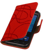 Rood Basketbal Hoesje voor Samsung Galaxy J1 2015 Booktype Wallet Cover