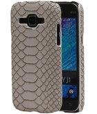 Beige Slang Hardcase Backcover Hoesje voor Samsung Galaxy J1 2015