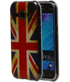 Britse Vlag TPU Cover Case voor Hoesje voor Samsung Galaxy J1 2015
