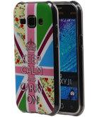 Keizerskroon TPU Cover Case voor Hoesje voor Samsung Galaxy J1 2015