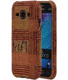 Kurk Design TPU Cover Case voor Hoesje voor Samsung Galaxy J1 2015 Model D