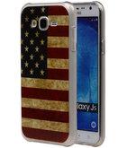 Amerikaanse Vlag TPU Cover Case voor Hoesje voor Samsung Galaxy J5 2015