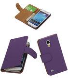 Paars Hoesje voor Samsung Galaxy S4 Mini s Book/Wallet Case/Cover