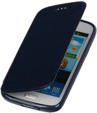 Polar Map Case Donker Blauw Hoesje voor Samsung Galaxy S4 mini TPU Bookcover