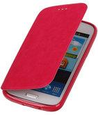 Polar Map Case Roze Hoesje voor Samsung Galaxy S4 mini TPU Bookcover