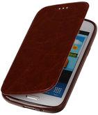Polar Map Case Bruin Hoesje voor Samsung Galaxy S4 mini TPU Bookcover