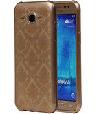 Goud Brocant TPU back case cover voor Hoesje voor Samsung Galaxy J5 2015