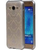 Zilver Brocant TPU back case cover voor Hoesje voor Samsung Galaxy J5 2015