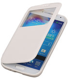 Polar View Map Case Wit Hoesje voor Samsung Galaxy S4 Mini I9190 TPU Bookcover