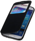 Polar View Map Case Zwart Hoesje voor Samsung Galaxy S4 Mini I9190 TPU Bookcover