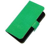 Groen Ribbel booktype wallet cover voor Hoesje voor Samsung Galaxy S4 mini I9190