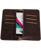 Mocca Pull-up Large Pu portemonnee wallet voor LG