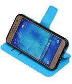 Blauw Hoesje voor Samsung Galaxy J5 2015 TPU wallet case booktype HM Book