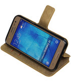 Goud Hoesje voor Samsung Galaxy J5 2015 TPU wallet case booktype HM Book