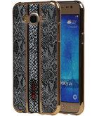 M-Cases Zwart Slang Design TPU back case voor Hoesje voor Samsung Galaxy J5 2015