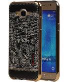 M-Cases Zwart Krokodil Design TPU back case voor Hoesje voor Samsung Galaxy J5 2015