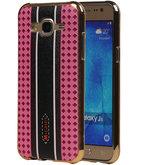 M-Cases Roze Ruit Design TPU back case voor Hoesje voor Samsung Galaxy J5 2015