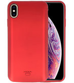Battery Case voor iPhone XS Max 5000 mAh Rood