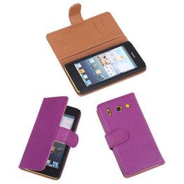 BestCases Lila Luxe Echt Lederen Booktype Hoesje voor Huawei Ascend G510