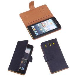 BestCases Navy Luxe Echt Lederen Booktype Hoesje voor Huawei Ascend G510