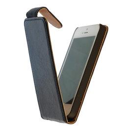 BestCases Luxe Kreukelleer Flipcase Hoesje voor Samsung Galaxy Express Blauw