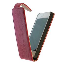 BestCases Fuchsia Kreukelleer Flipcase Hoesje voor HTC Desire 500