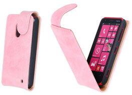 Bestcases Vintage Light Pink Flipcase Hoesje voor Nokia Lumia 620
