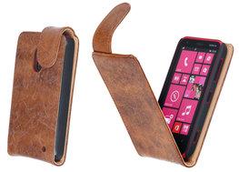 Bestcases Vintage Bruin Flipcase Hoesje voor Nokia Lumia 620
