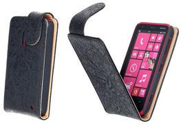 Bestcases Vintage Zwart Flipcase Hoesje voor Nokia Lumia 620