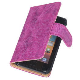 Bestcases Vintage Pink Book Cover Hoesje voor Samsung Galaxy Core i8260