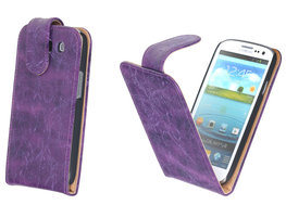 Bestcases Vintage Lila Flipcase Hoesje voor Samsung Galaxy S3 i9300