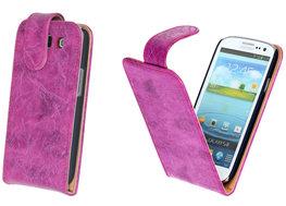 Bestcases Vintage Pink Flipcase Hoesje voor Samsung Galaxy S3 i9300