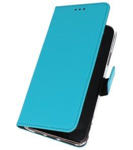 Wallet Cases Hoesje Samsung Galaxy A20s Blauw